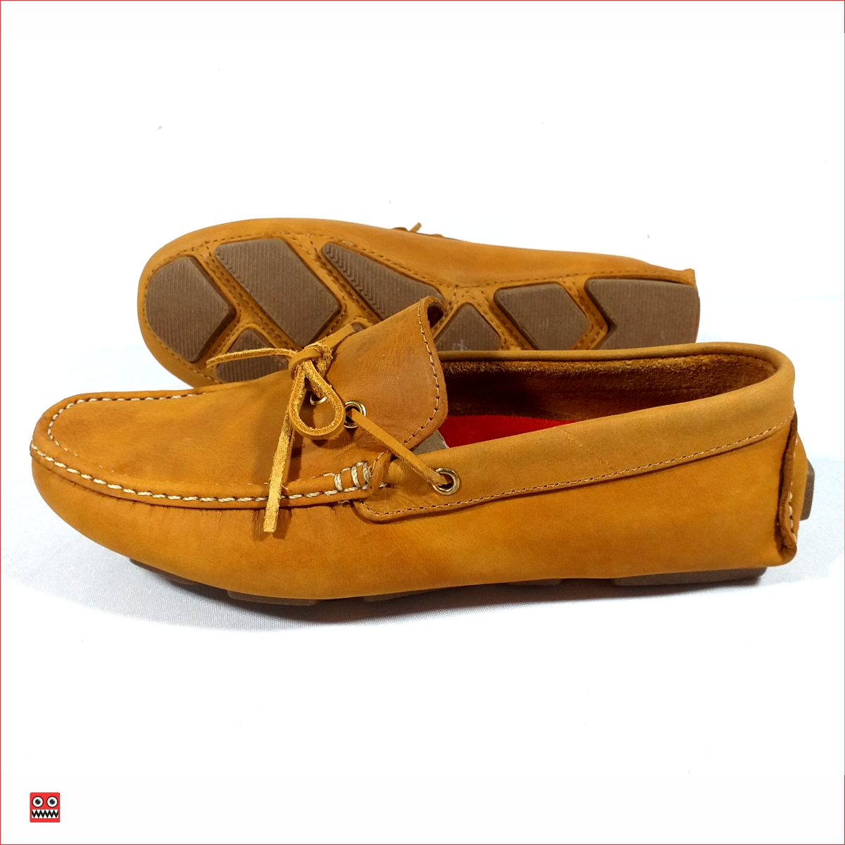Mocasin miel de cordon Alco 1 DESCRIPCION Material en cuero 100% color miel, zuela cocida color cafe . $98.000 TALLAS Col 38-39-40-41-42-43.