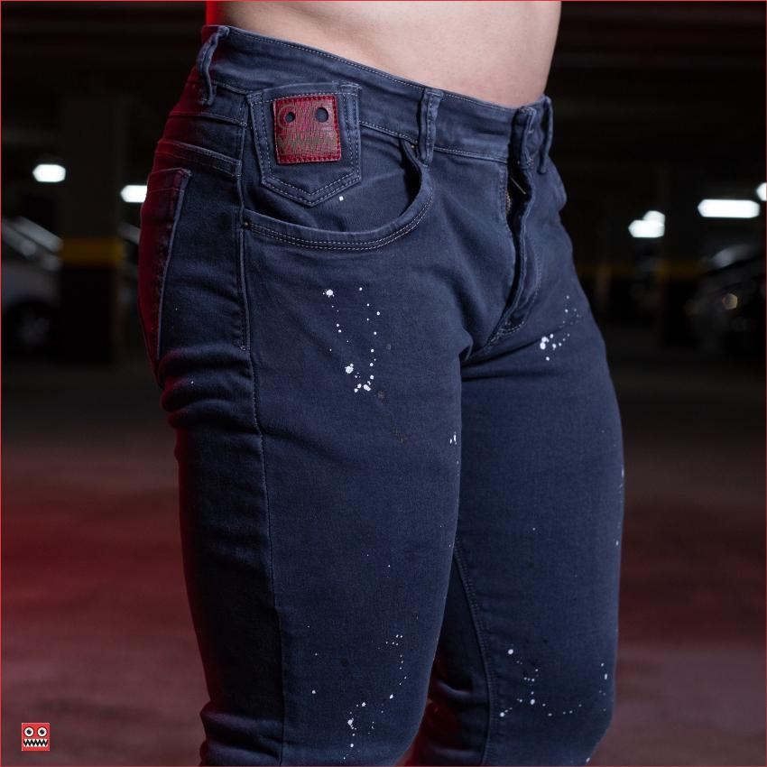 ref 1444 3 jean gris dos colores chaspeado , tela jean en algodon 98% + 2% expande. $85.000