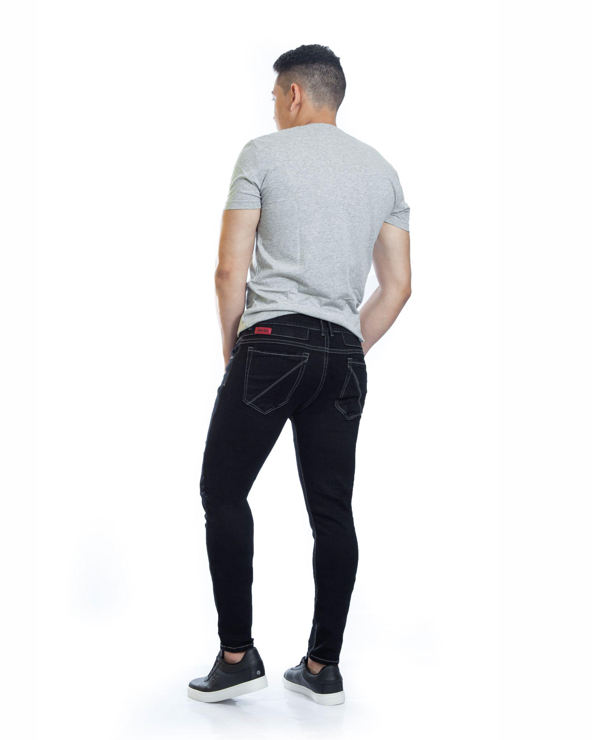 ref 1735 2 jean Black Red , tela jean en algodon 98% + 2% expande. talla 26 28 30 32 34 36 $98.000