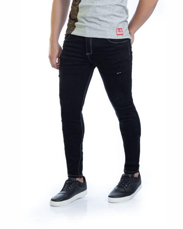 ref 1735 3 jean Black Red , tela jean en algodon 98% + 2% expande. talla 26 28 30 32 34 36 $98.000