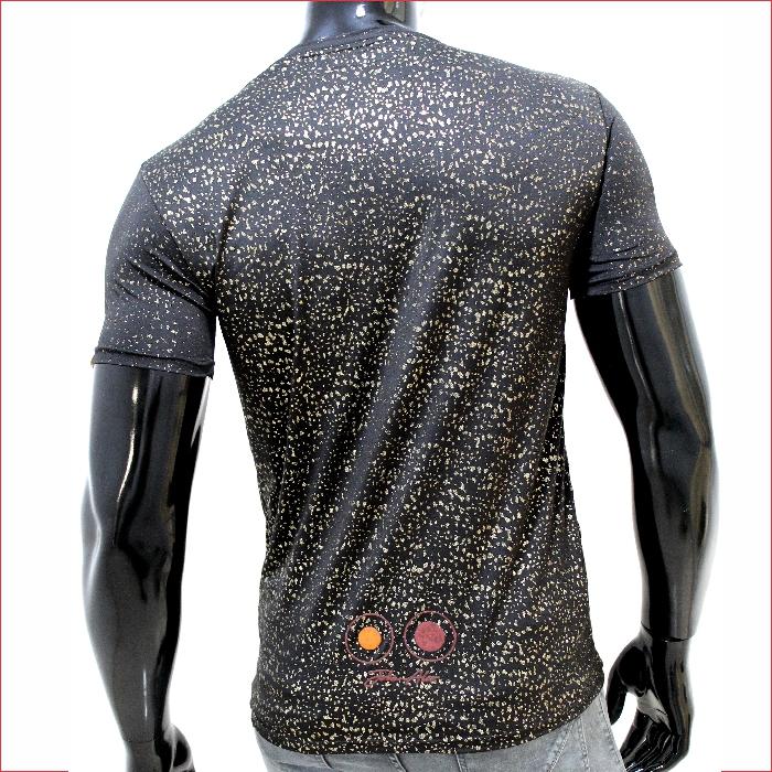 camiseta ref 1590 2 DESCRIPCION camiseta negro escarcha brillante, tela en algodon 40% – 20% poliester – 40 % viscosa $45.000. Tallas S-M-L-XL.