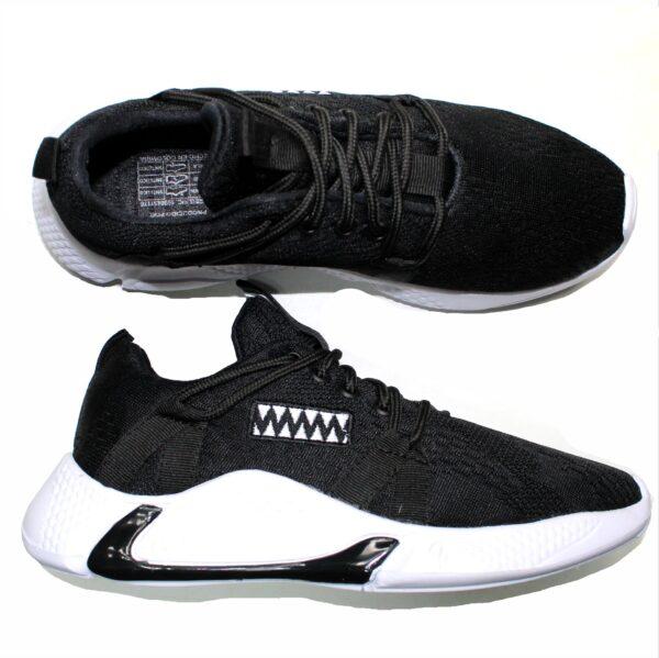 REF 1658  tenis black depor john alco, material lona, suela blanca con negro