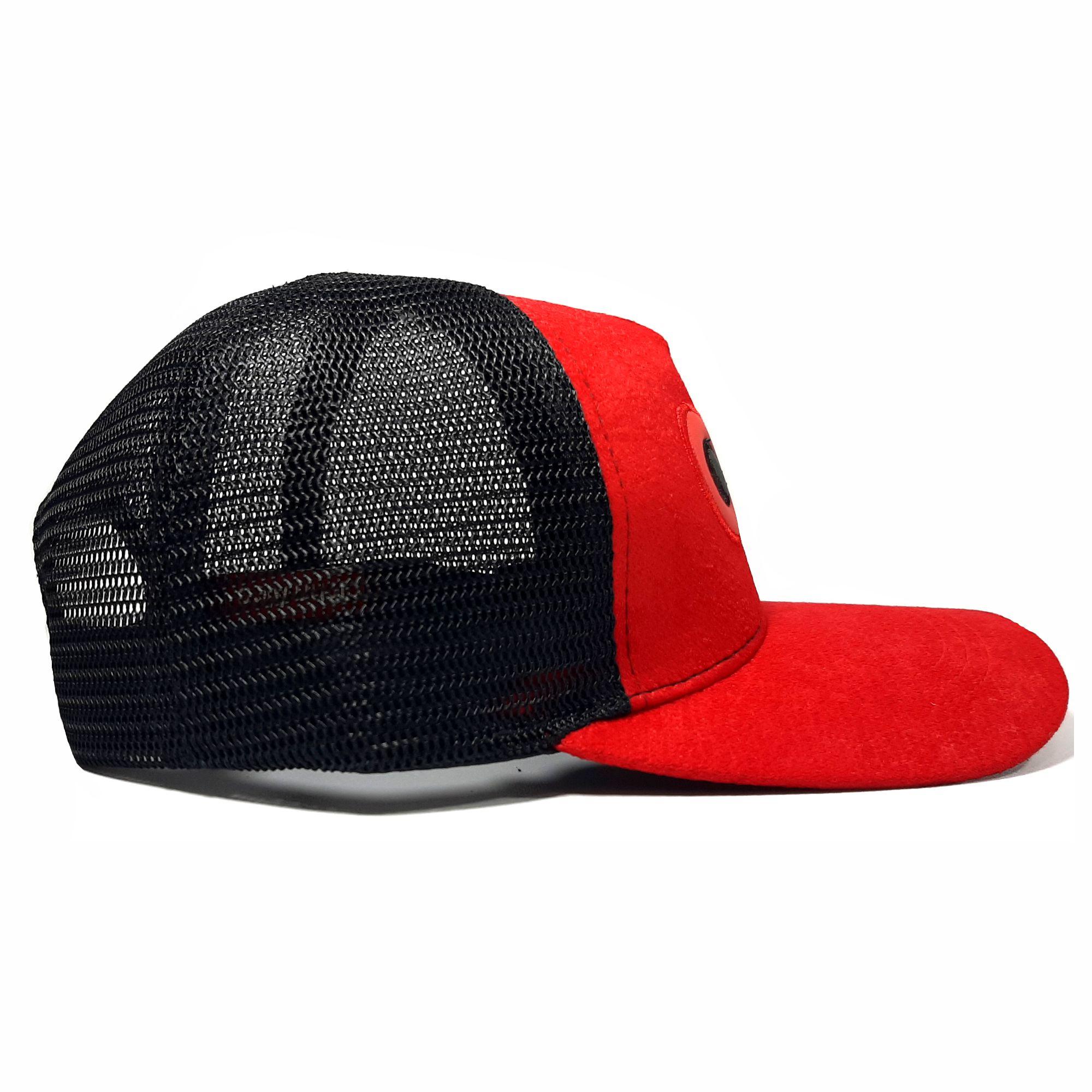 ref 1625 2 Gorra lona rojo visera rojo, con maya negra ojos bordados grandes $37.000 talla unica