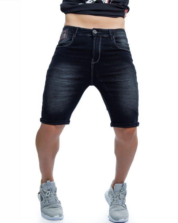 ref 1651 000 bermuda jean negro brillane tela 98% algodon mas 2% de expande, talla 26 28 30 32 34 36 38 $67.000 mil