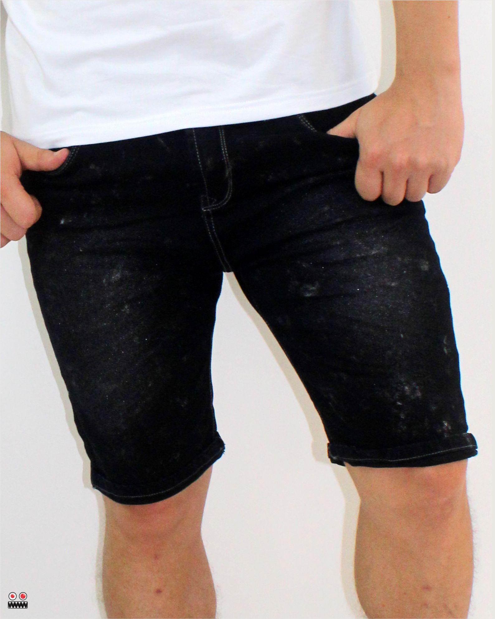 ref 1651 3 bermuda jean negro brillane tela 98% algodon mas 2% de expande, talla 26 28 30 32 34 36 38 $67.000 mil – copia