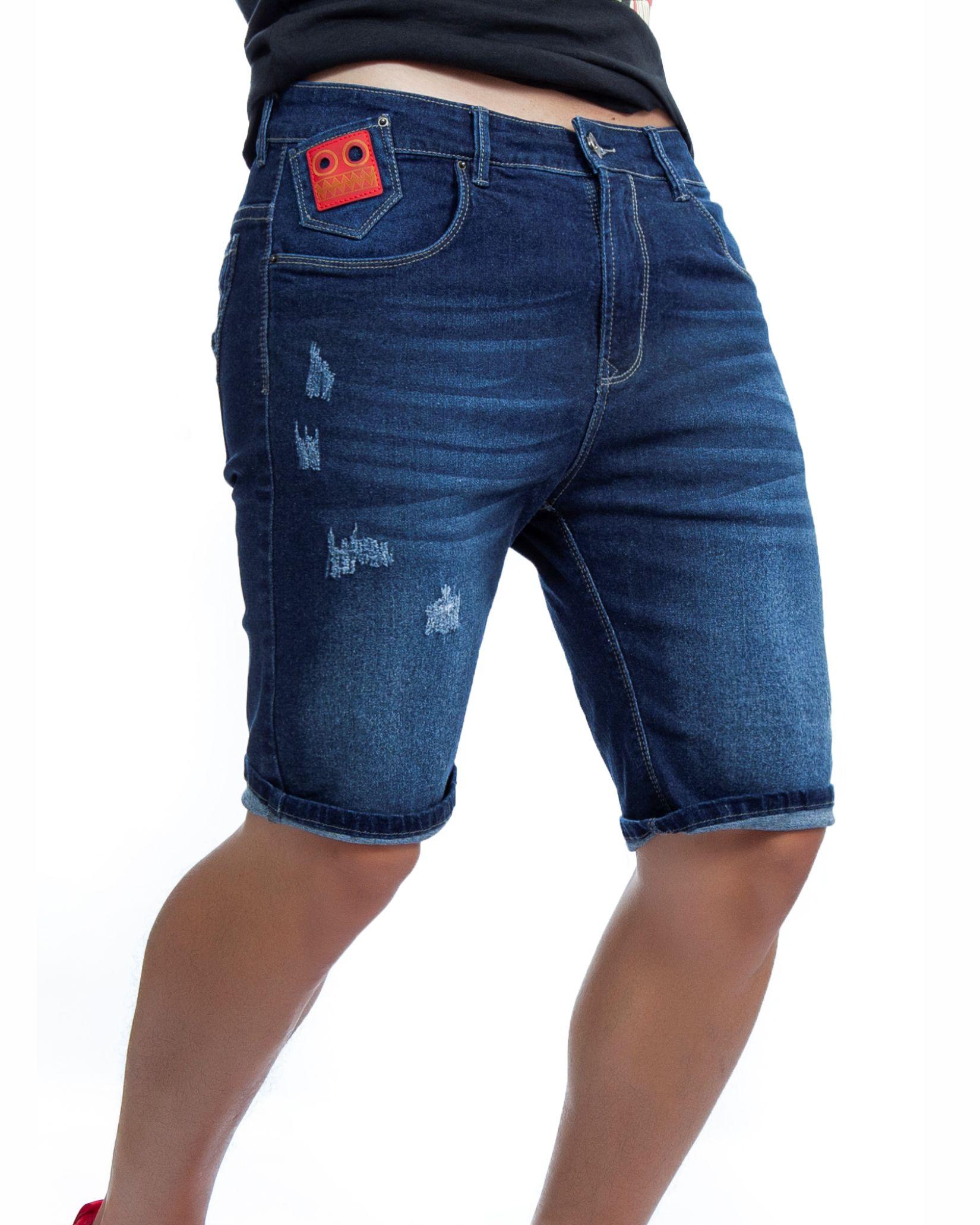 ref 1672 00 BERMUDA jean clasi, tela jean en algodon 98% + 2% expande. $67.000