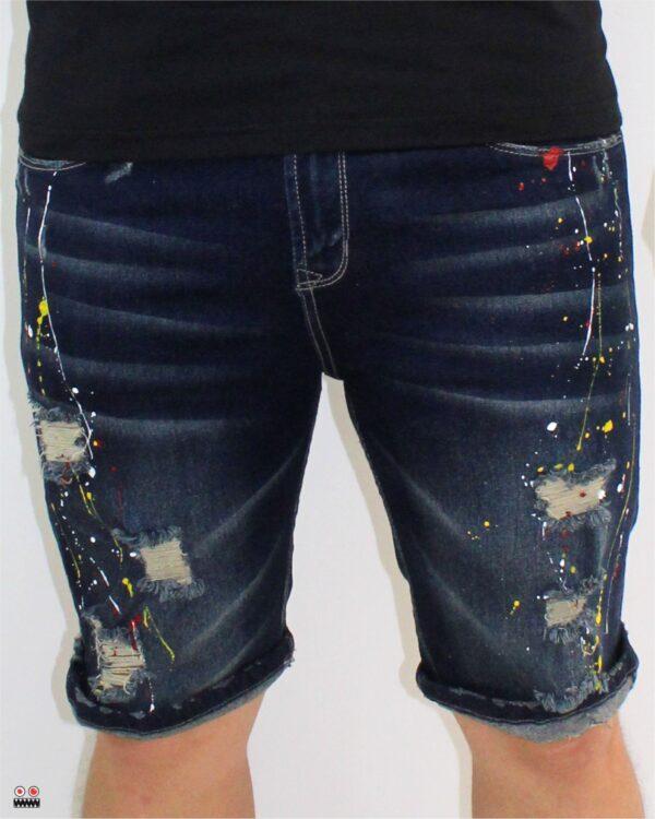 ref 1686 3 BERMUDA GOTEO AGRESIVO, tela jean en algodon 98% + 2% expande. $67.000