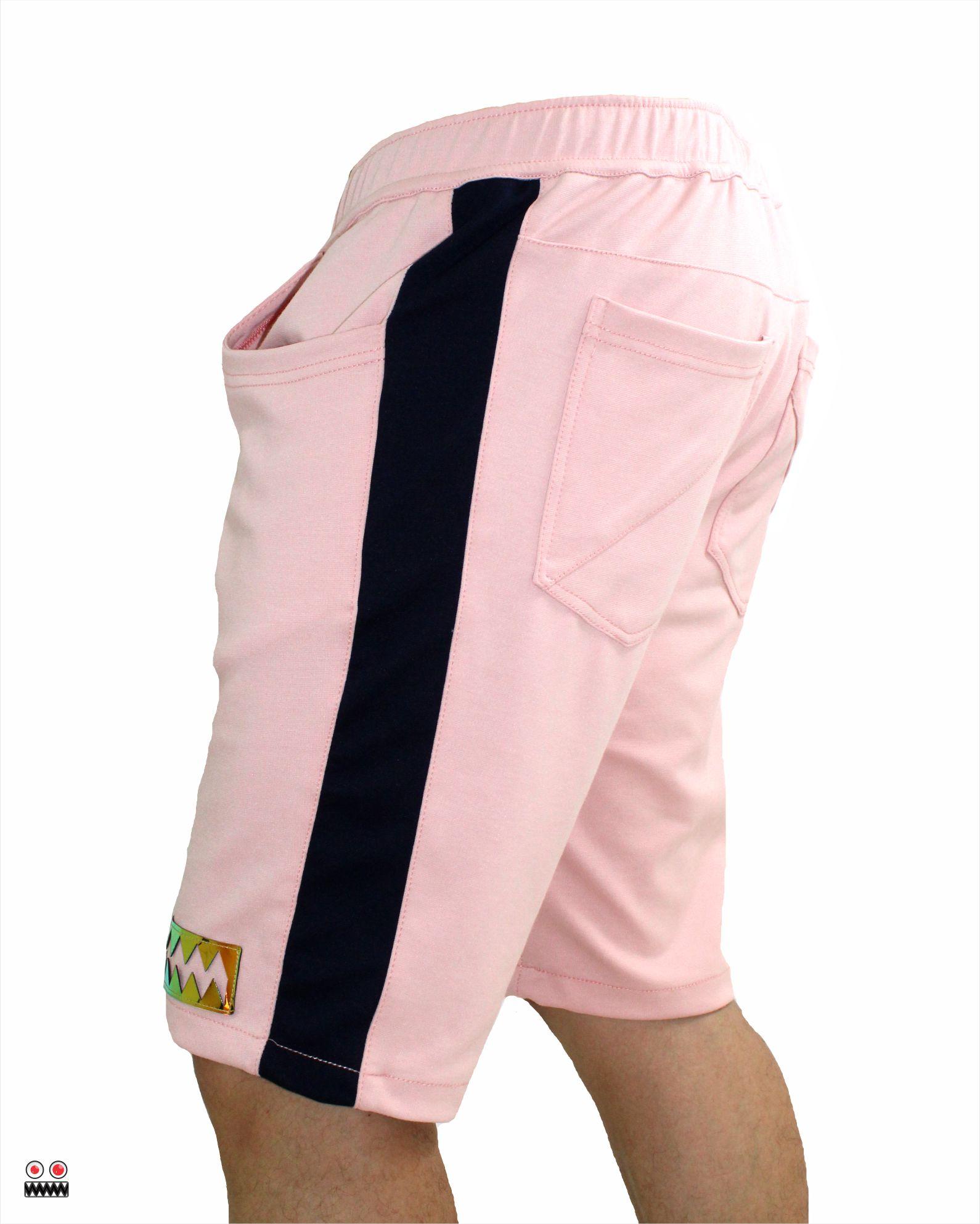 ref 1696  bermuda jogger rosado golden, tela burda jogger en 98% algodón + 2% expande