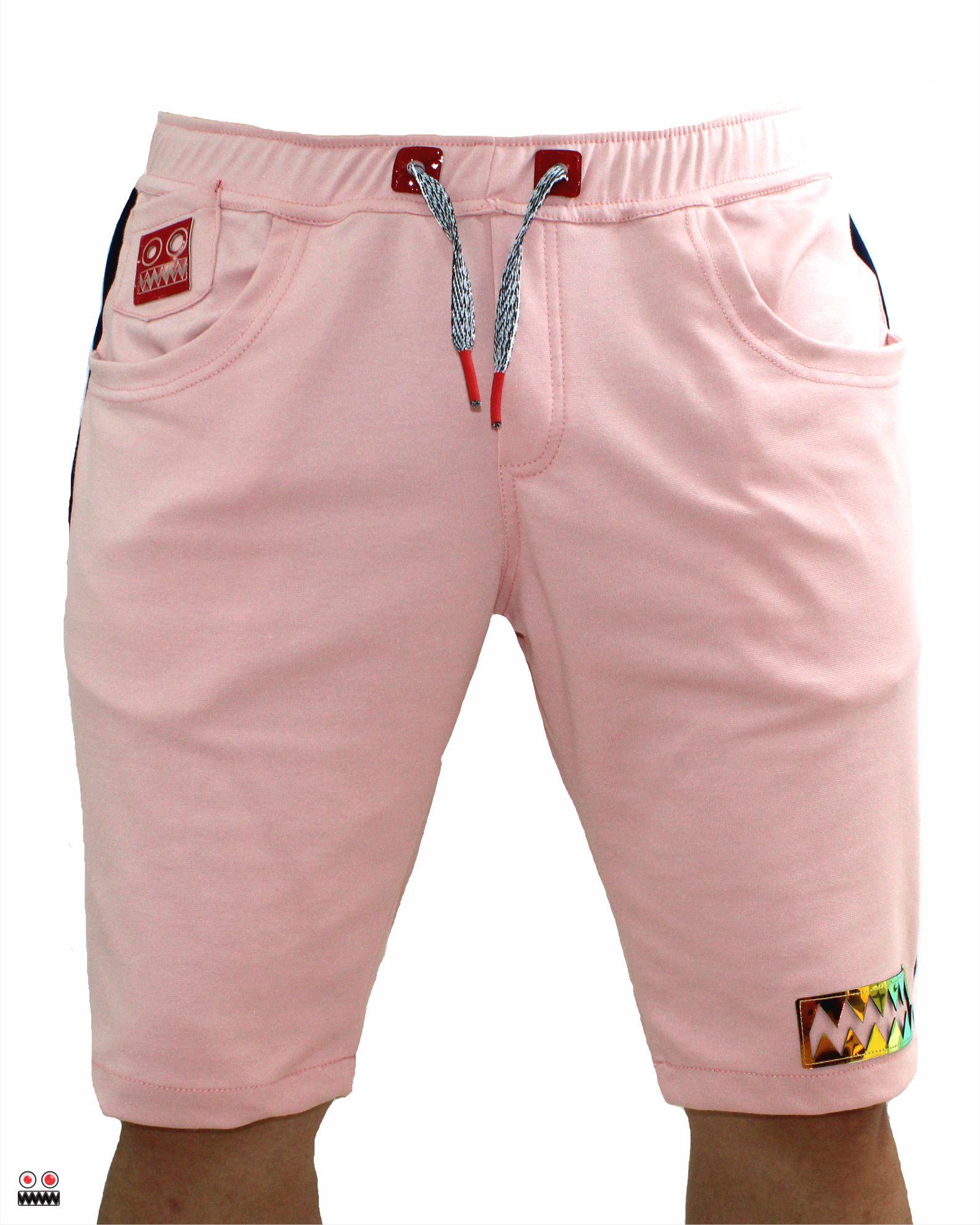 ref 1696 bermuda jogger rosado golden, tela burda jogger en 98% algodon + 2% expande tallas 28 30 32 34 36 38 $55.000