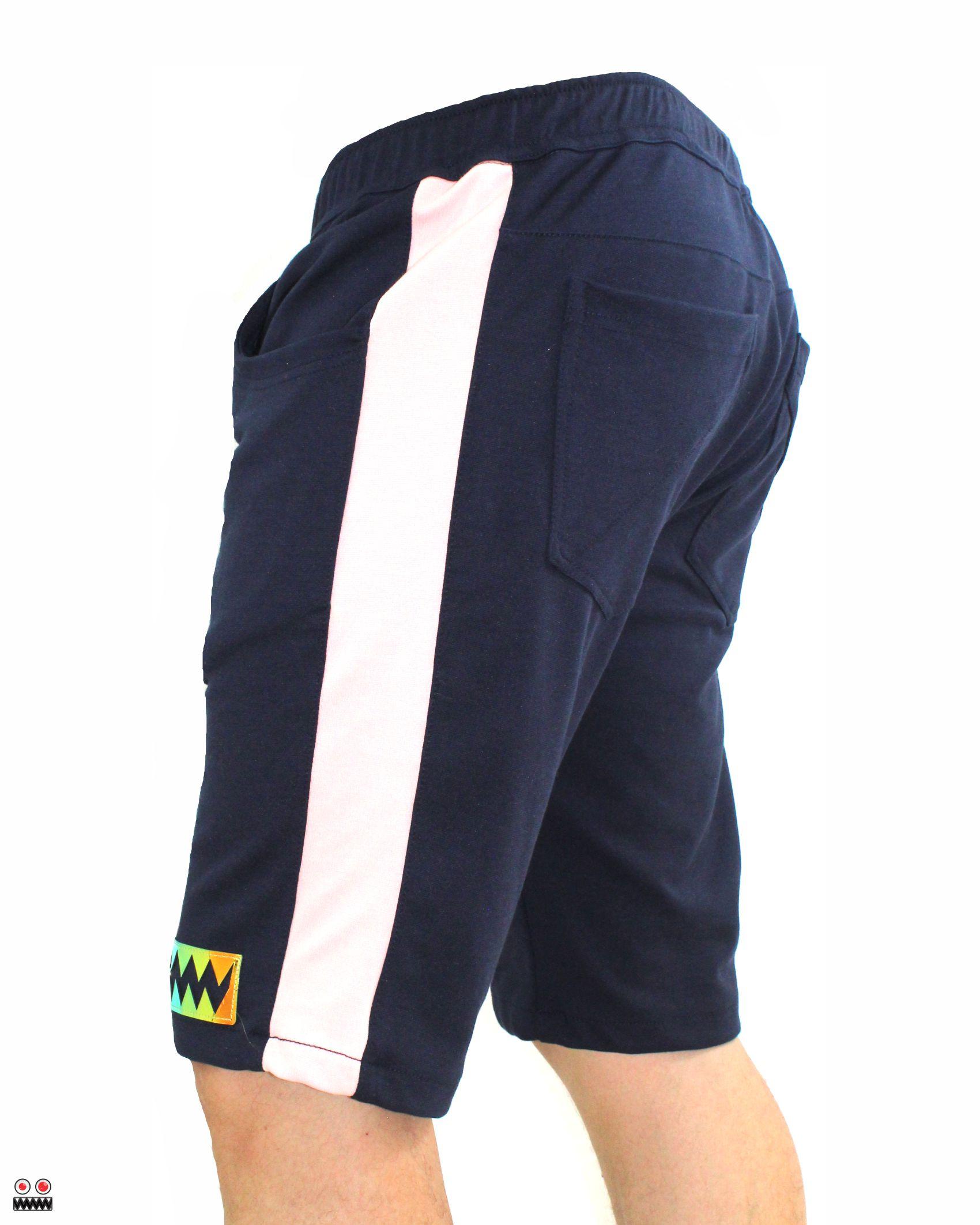 ref 1697 2 bermuda jogger azul oscuro golden, tela burda jogger en 98% algodon + 2% expande tallas 28 30 32 34 36 38 $52.000