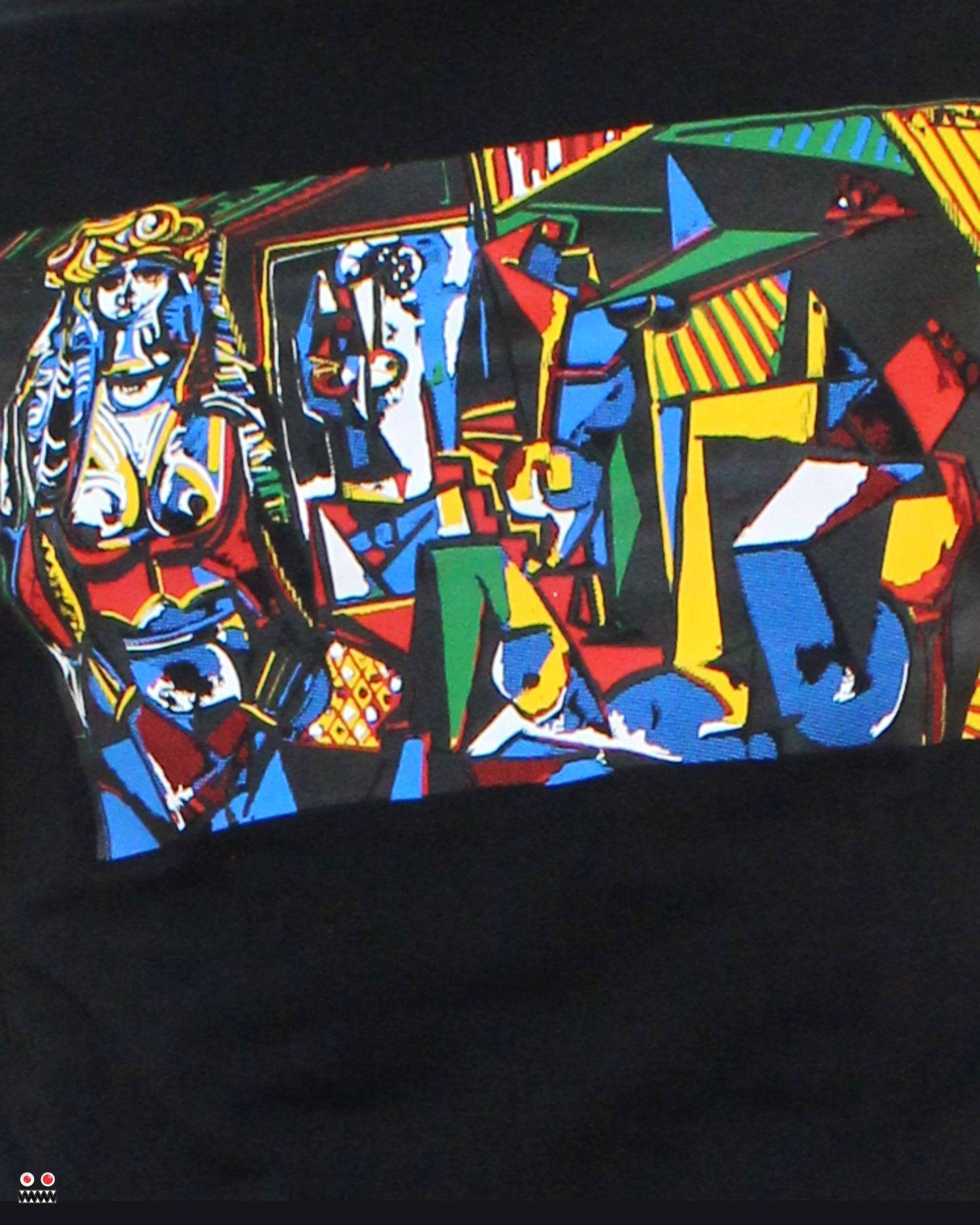 ref 1701 3 camiseta negro cubismo, tela en algodon Tallas S-M-L-XL. $48.000.