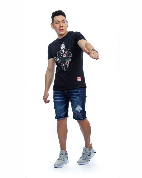 ref 1749 1 camiseta tony metrayeta, color negro , tela 100% en algodon Tallas S-M-L-XL. $48.000.