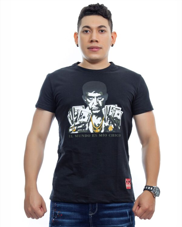 ref 1750 2 camiseta tony dolar, color negro , tela 100% en algodon Tallas S-M-L-XL. $48.000.