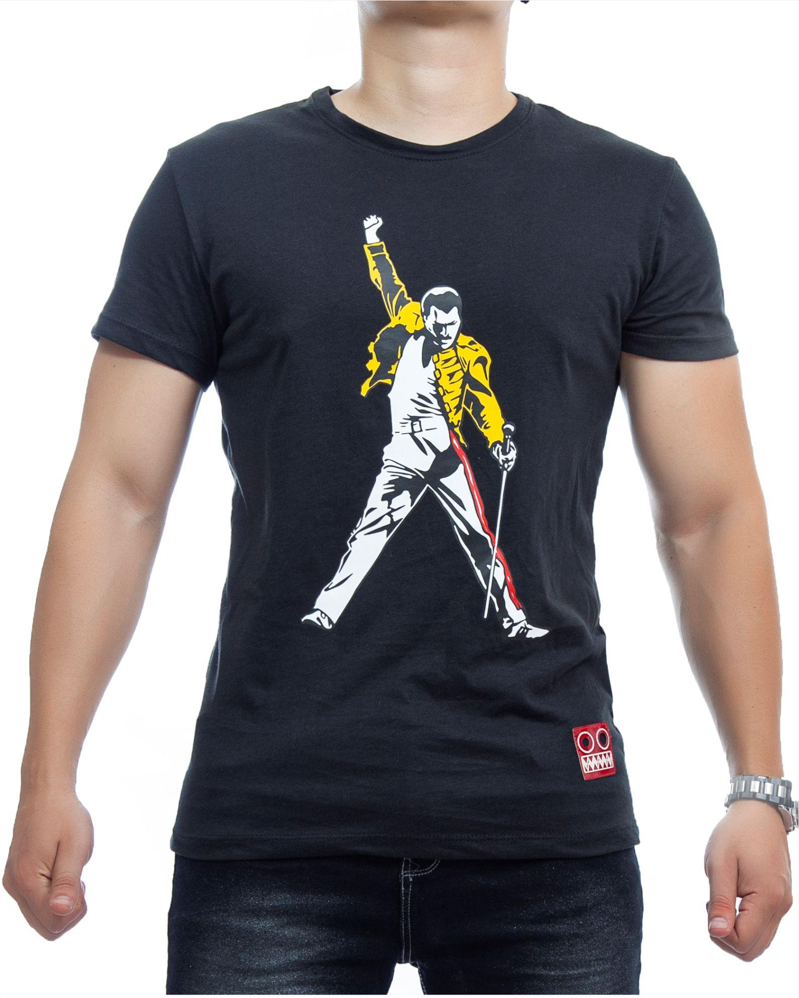 ref 1752 2 camiseta freddie, color negro, tela 100% en algodon Tallas S-M-L-XL. $48.000.