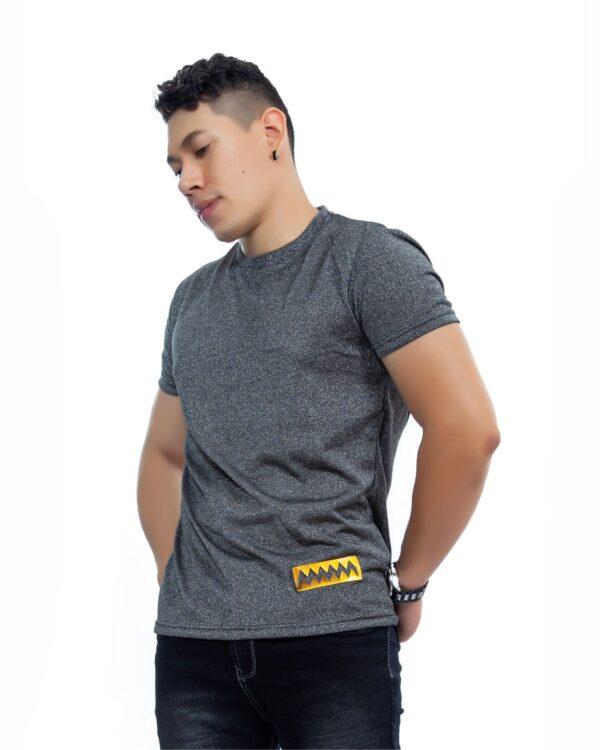 ref 1715 0 camiseta Hilo brillante Gris Oscuro, tela en algodon 80% + 18% poliester + 2% Spandex Tallas S-M-L-XL. $57.000.