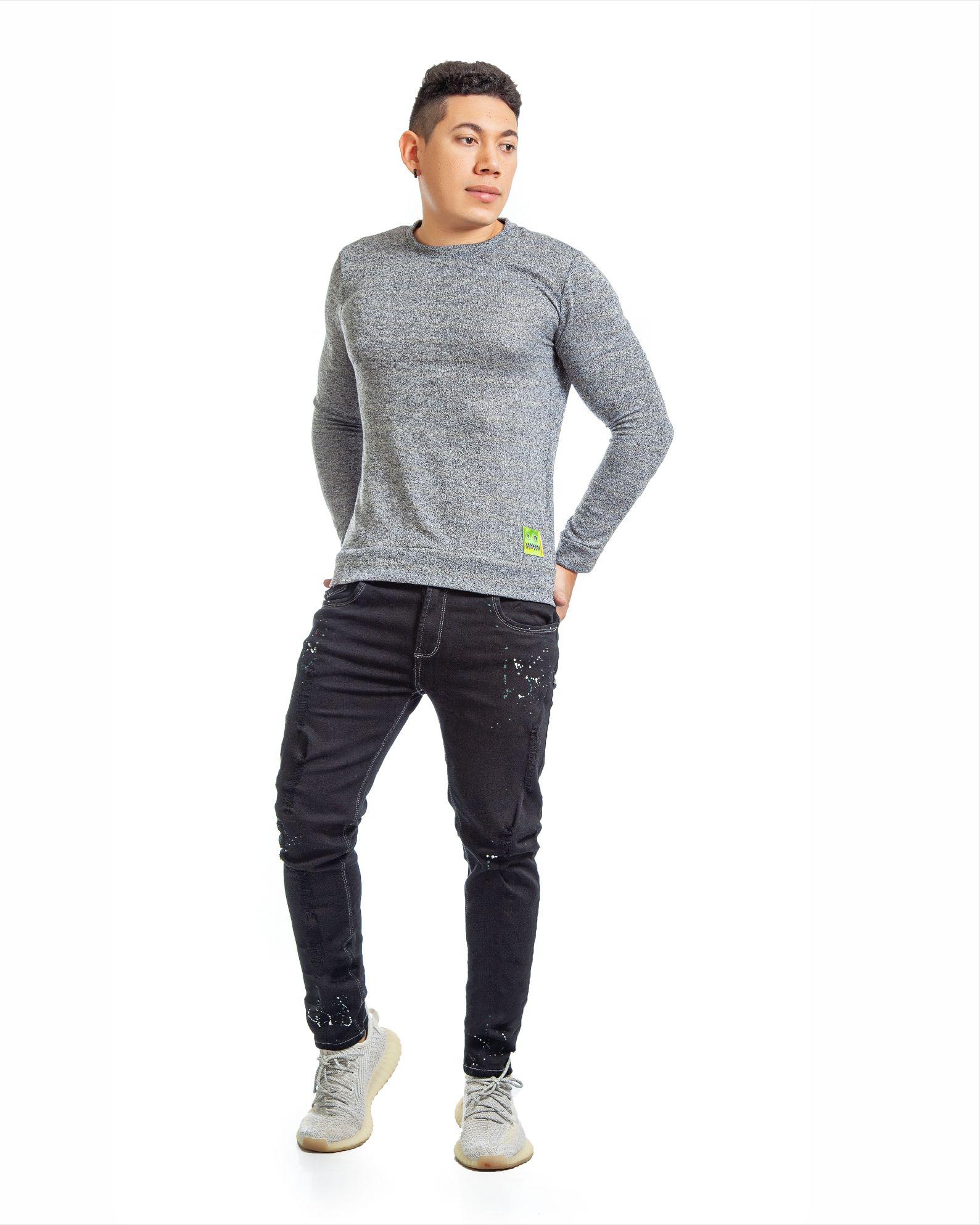 ref 1755 1 buzo gris tejido, tela en algodón 80% + 18% poliéster + 2% Spandex. Tallas S-M-L-XL. $72.000.