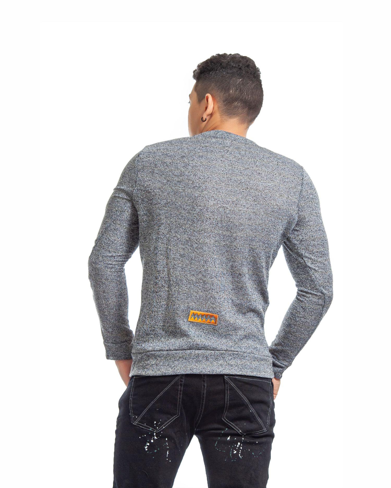 ref 1755 2 buzo gris tejido, tela en algodón 80% + 18% poliéster + 2% Spandex. Tallas S-M-L-XL. $72.000.